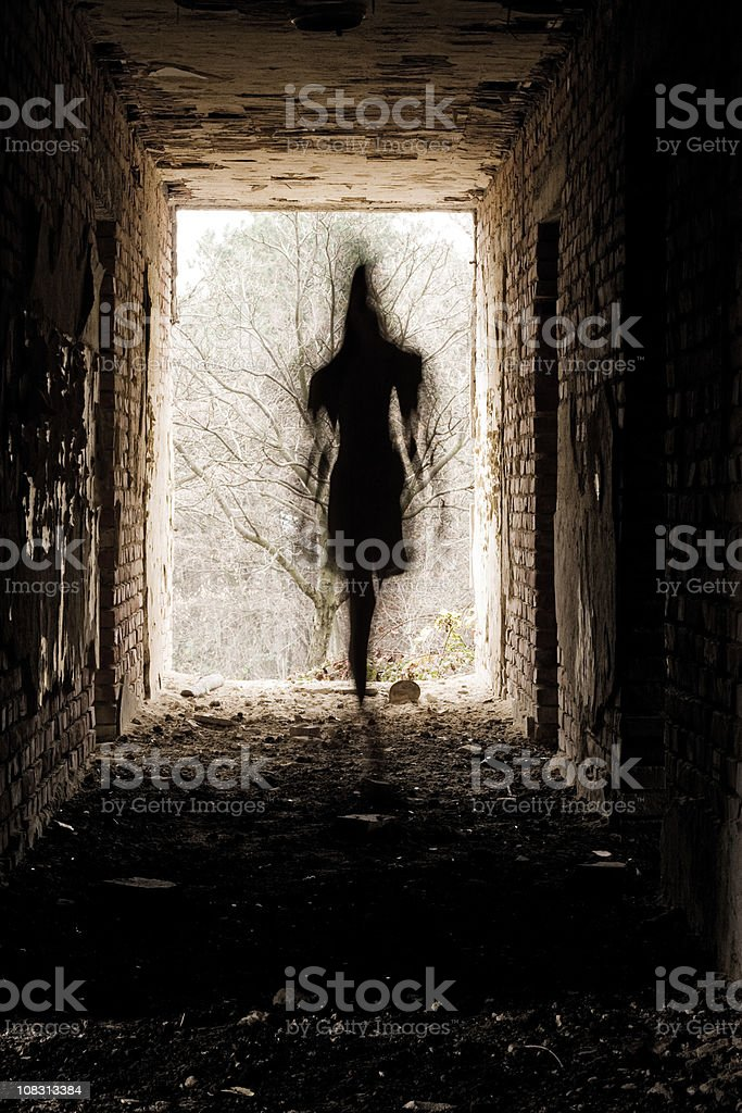 Haunted building stock photo