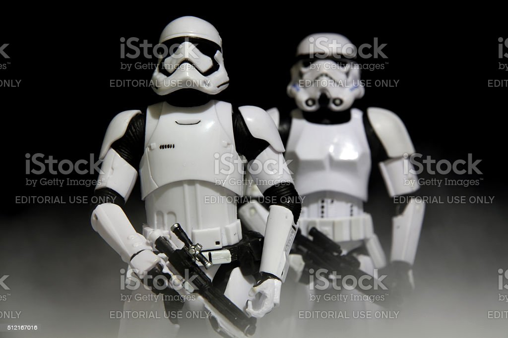 Haunted by Stormtroopers Past stock photo