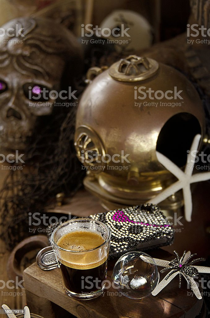 Haunted Espresso royalty-free stock photo
