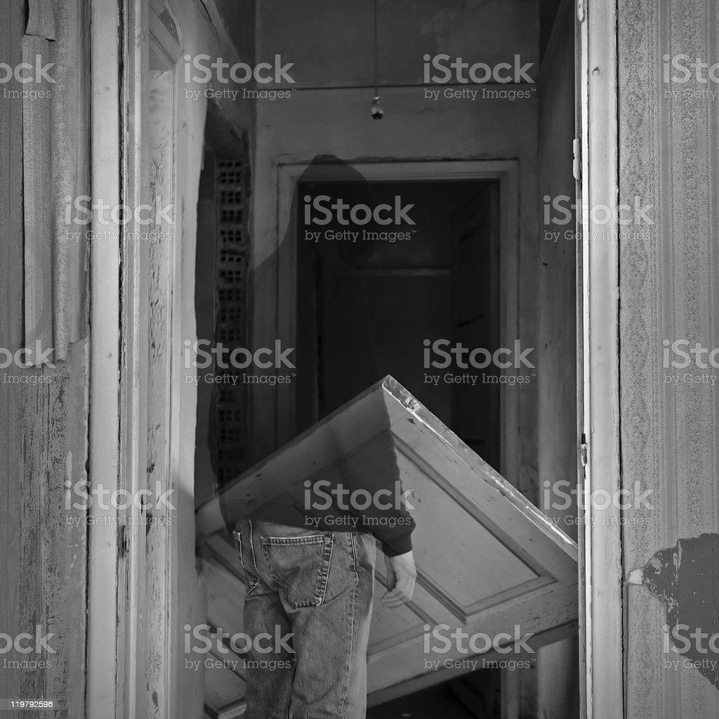 haunted hallways royalty-free stock photo