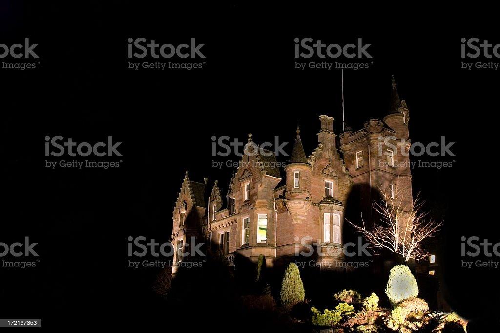 Haunted House at Night royalty-free stock photo