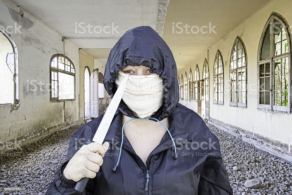 Haunted house fear stock photo