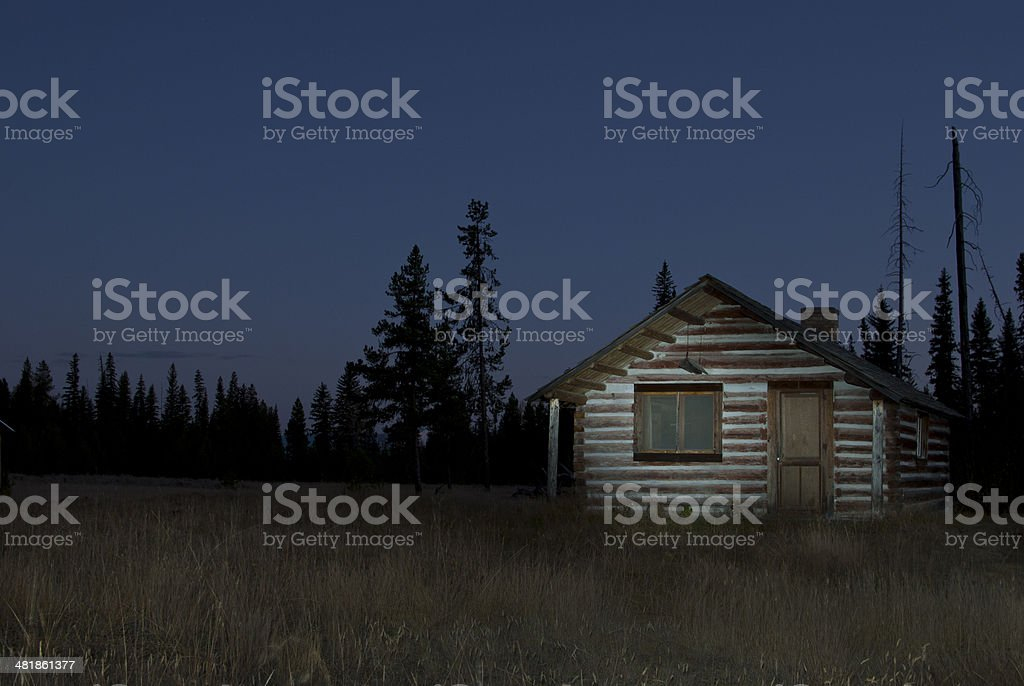 Haunted House in Field royalty-free stock photo