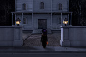 Haunted House Mansion Trick or Treater Halloween Night