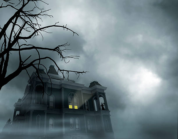 haunted house - horror stock pictures, royalty-free photos & images