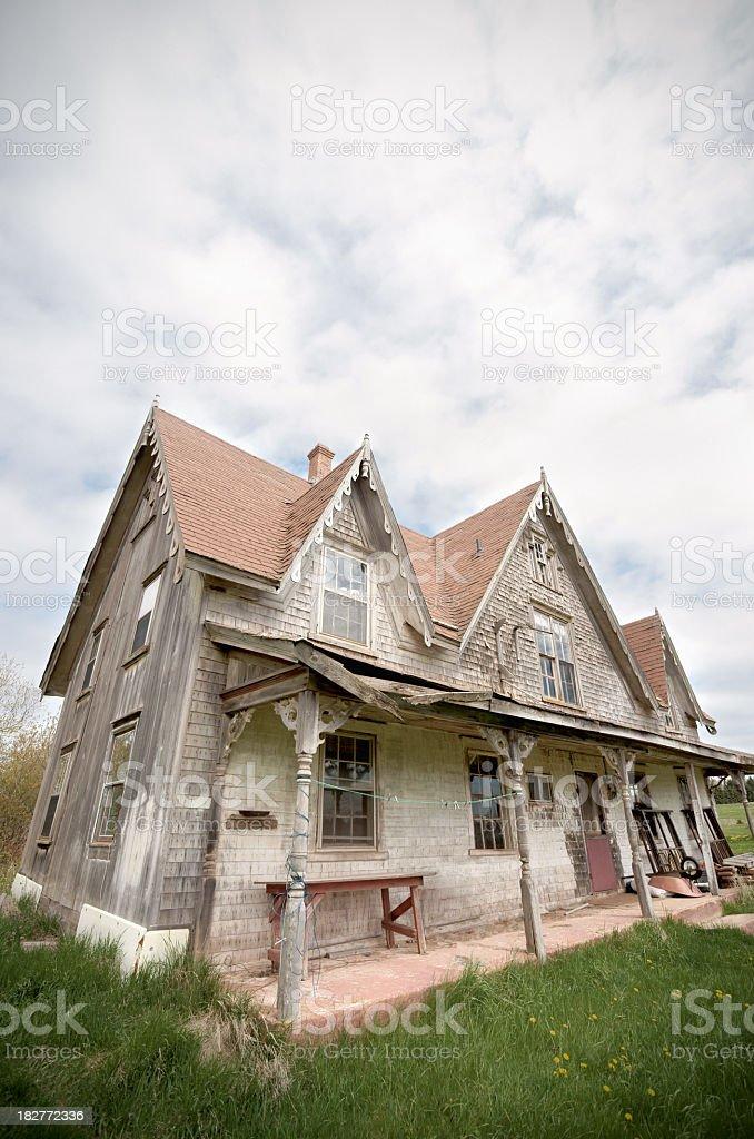 Haunted House, Prince Edward Island. stock photo
