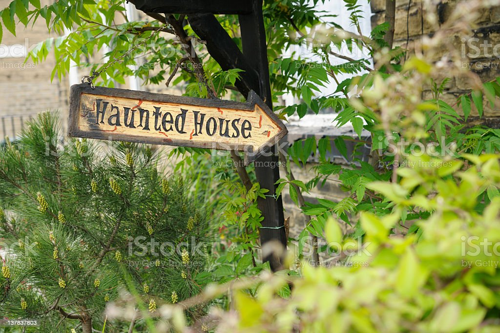 Haunted House Sign royalty-free stock photo