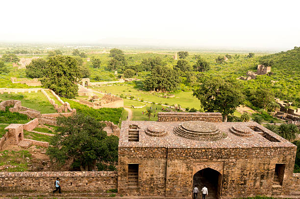 haunted indian city of bhangarh - cursed stock pictures, royalty-free photos & images