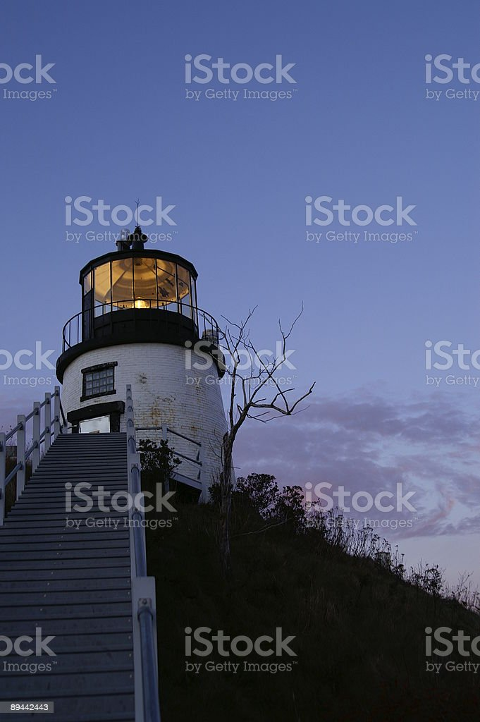 Haunted Lighthouse stock photo