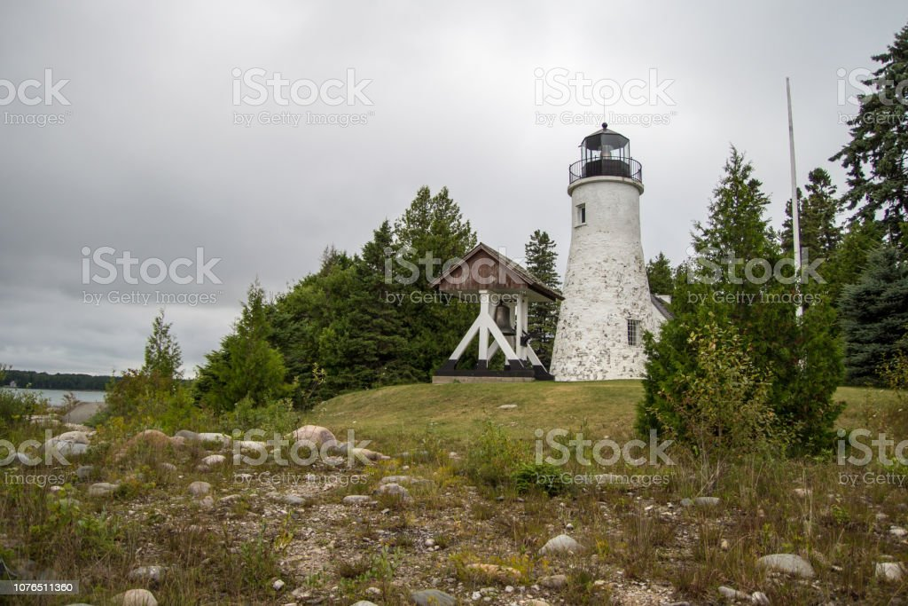 Haunted Presque Isle Lighthouse On The Shores Of Lake Huron