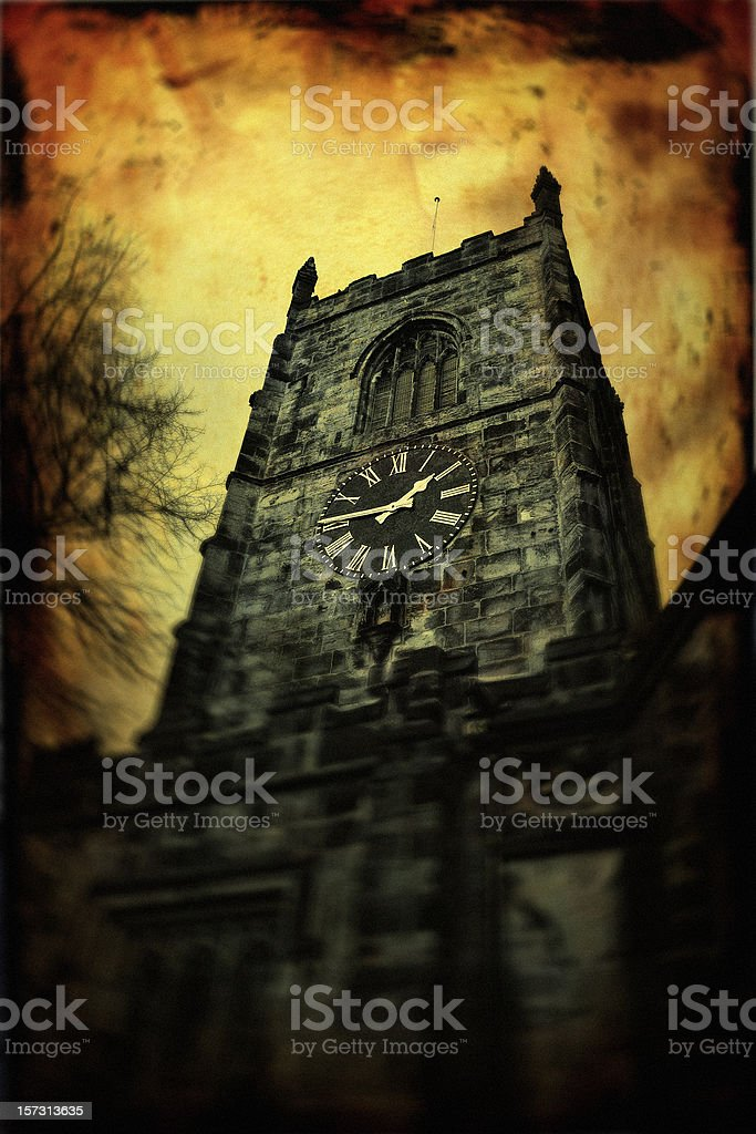 Haunted Tower stock photo