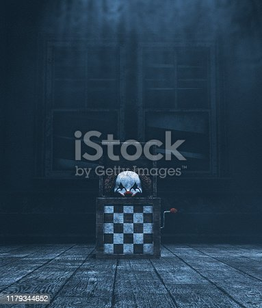 istock Haunted toys,3d illustration 1179344652