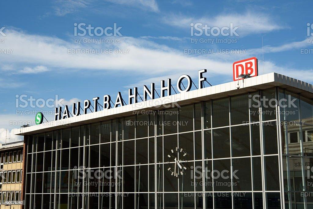 Hauptbahnhof Köln stock photo