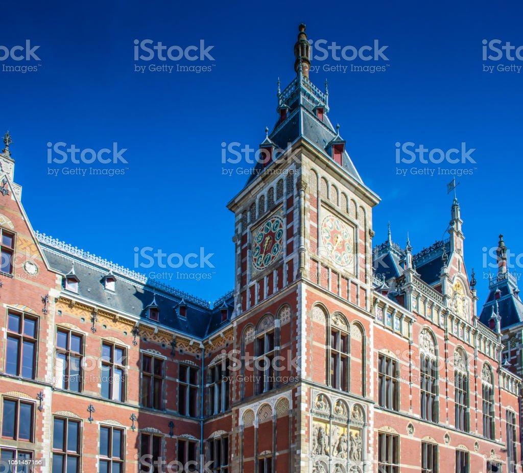 Hauptbahnhof von Amsterdam stock photo