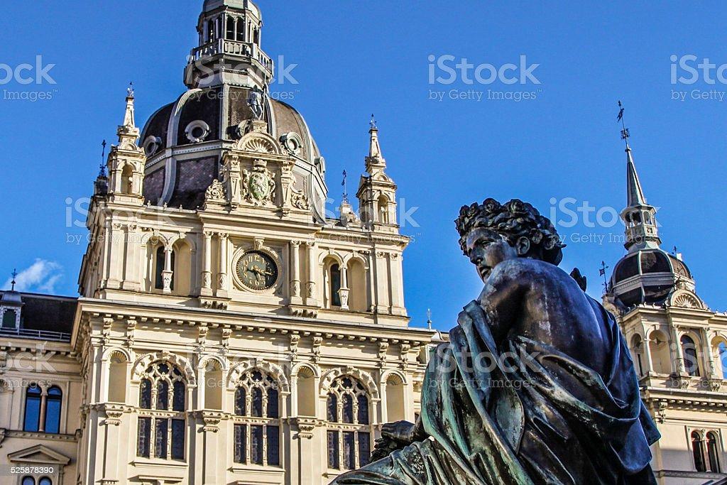 Hauptplatz Graz stock photo