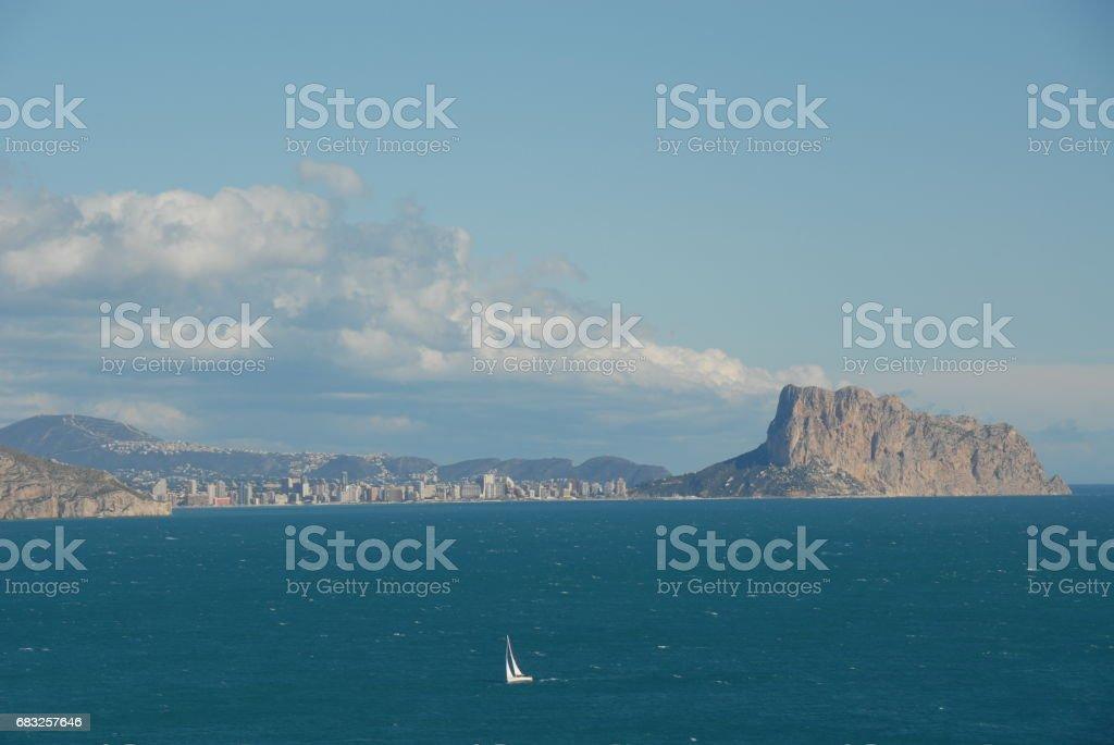 Hausfassaden - Stadtansichten von Calpe/Costa Blanca, Mittelmeer, Spanien royalty-free 스톡 사진