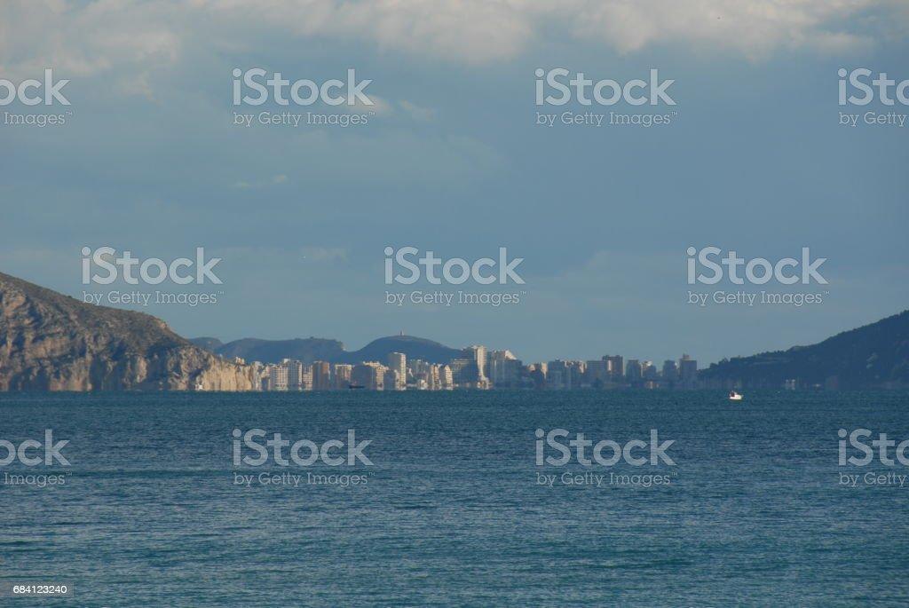 Hausfassaden - Stadtansichten von Calpe/Costa Blanca, Mittelmeer, Spanien royaltyfri bildbanksbilder