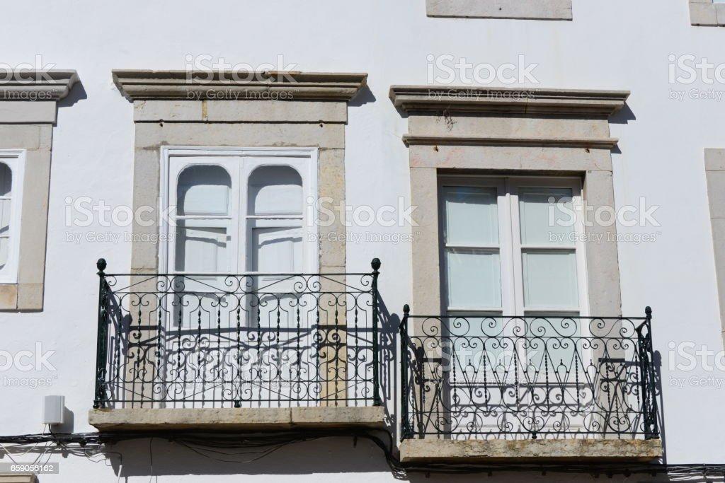 Hausfassden / Stadtansichten in Portugal - (Faro, Lagos, Tavira, Sagres) royalty-free stock photo