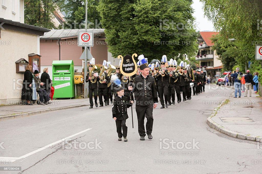 Hausham, Germany, 07.17.2016: pageant 50 years mine closure in Hausham stock photo