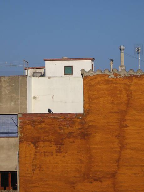 Hauswand naranja - foto de stock