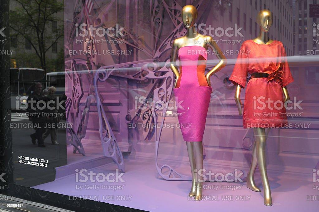 Haute Couture Window Display,NYC. stock photo