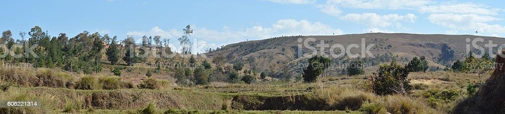 Hauts plateaux de Madagascar stock photo