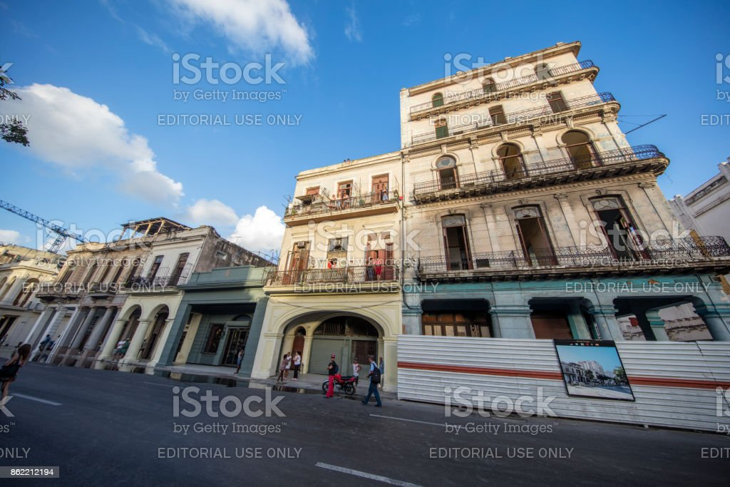 Havana Architecture, Cuba stock photo