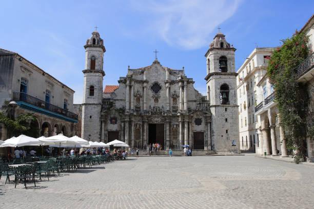 Havana Cathedral. stock photo
