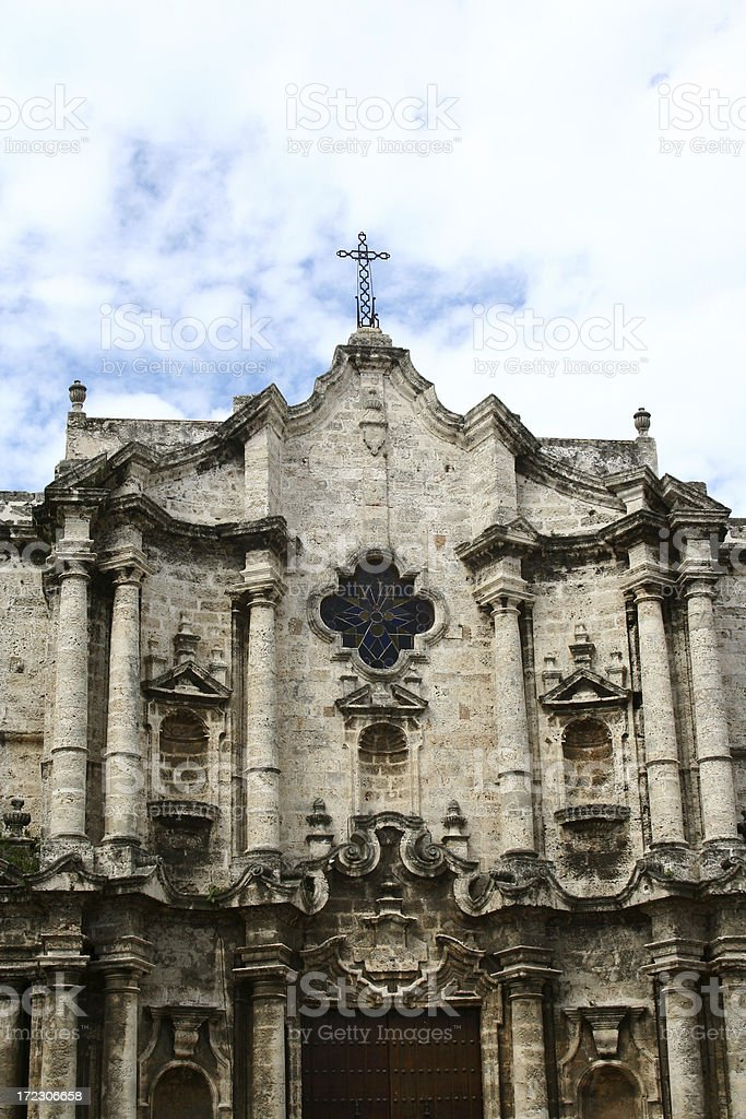 Havana Cathedral stock photo