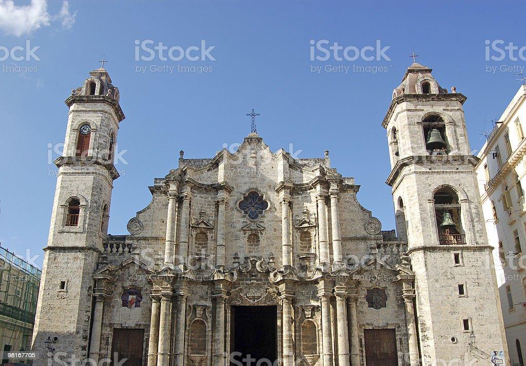 Havana Cathedral royalty-free stock photo