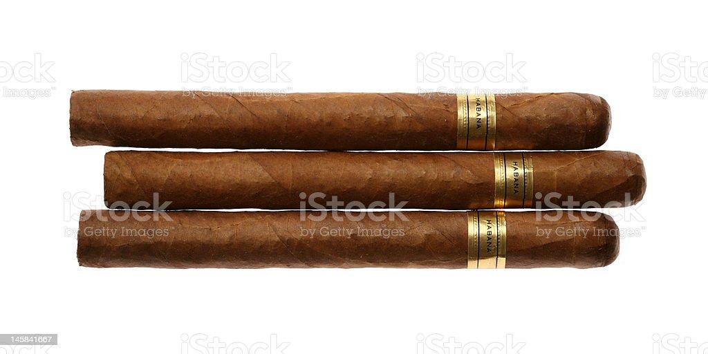 Havana Cigars Set Isolated on White royalty-free stock photo