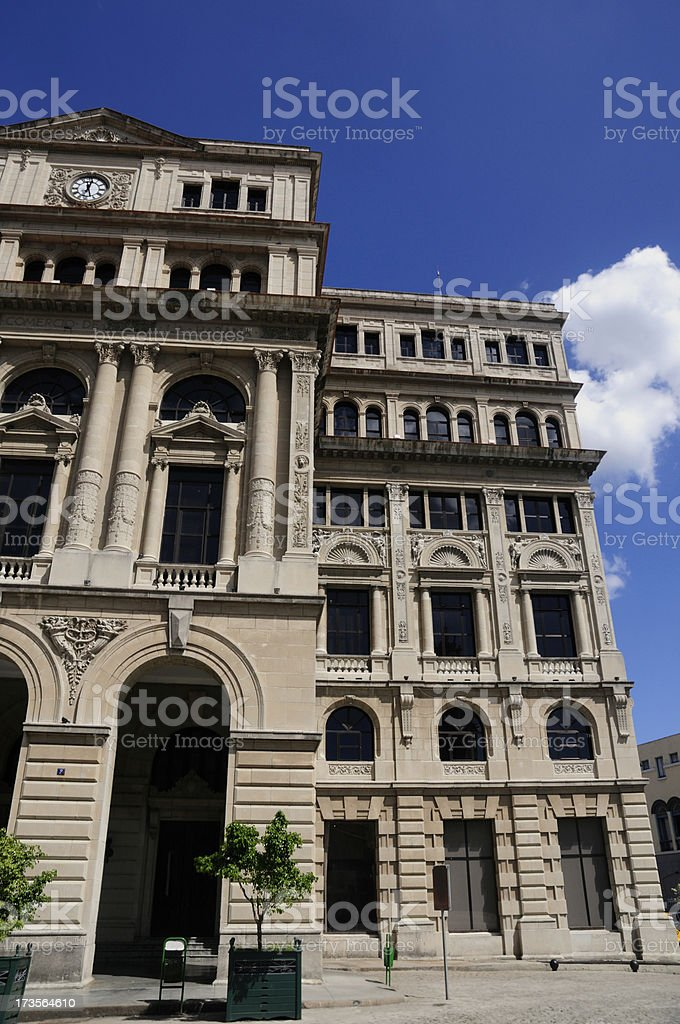 Havana City Lonja del Comercio emblematic building royalty-free stock photo