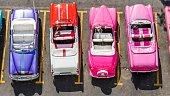 Havana , Cuba. Colorful Cars.