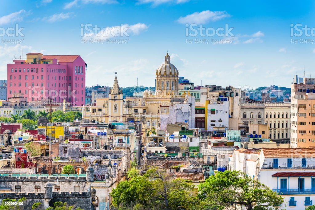 Havana, Cuba downtown skyline. stock photo