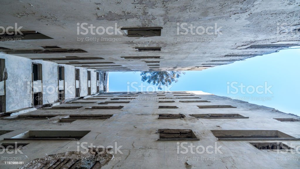 Havana Cuba Exterior Of A Partial Abandoned Hotel Decrepit Building With Pool Stock Photo Download Image Now Istock