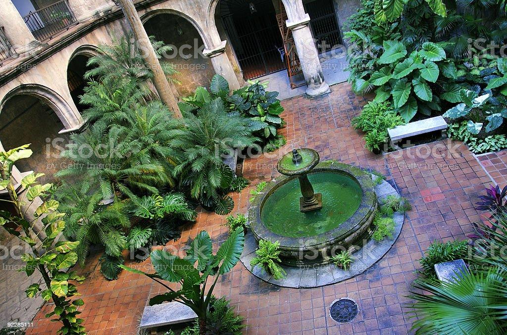 Havana Interior with fountain royalty-free stock photo