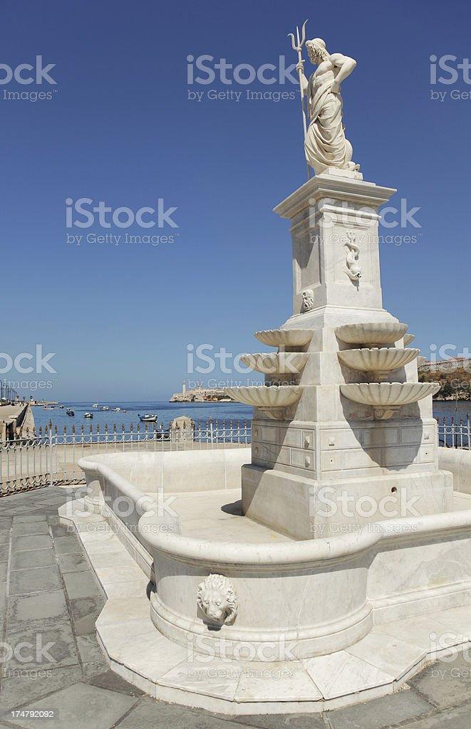 Havana Neptune Statue royalty-free stock photo
