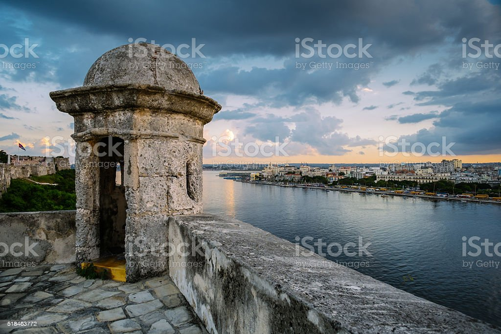 Havana Panorama in the evening stock photo