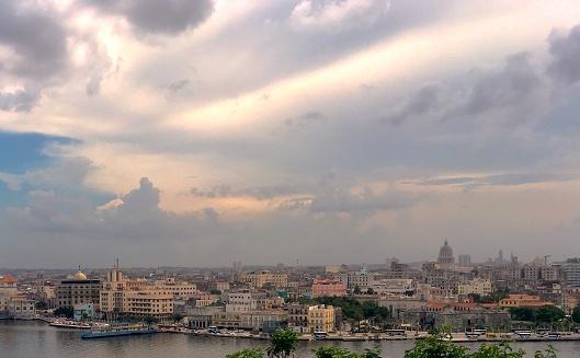 Havana, Cuba, is seen from a hilltop across the bay of Havana.