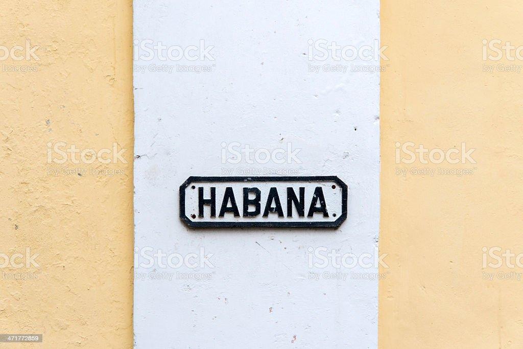 Havana Street Name Sign royalty-free stock photo