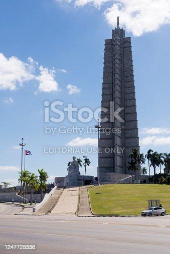 Havana, Cuba - Building in Havana`s Plaza de la Revolucion . Photo taken on 30th October 2018