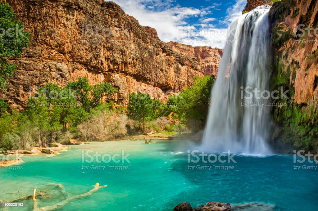 Havasu Falls Havasupai Arizona Grand Canyon stock photo