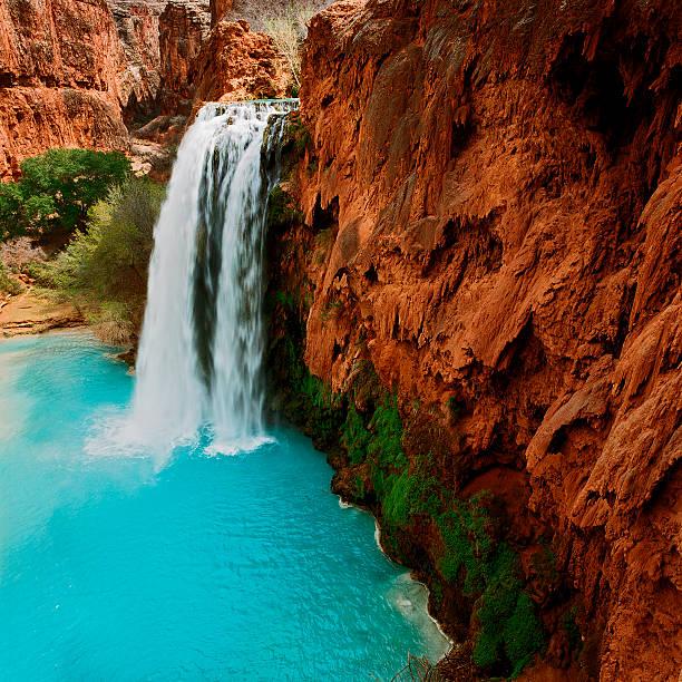 Havasu Falls, Havasupai, Arizona stock photo