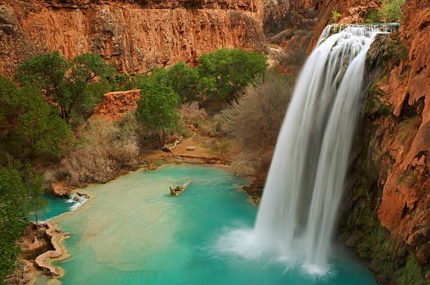 Havasu Falls in Arizona stock photo