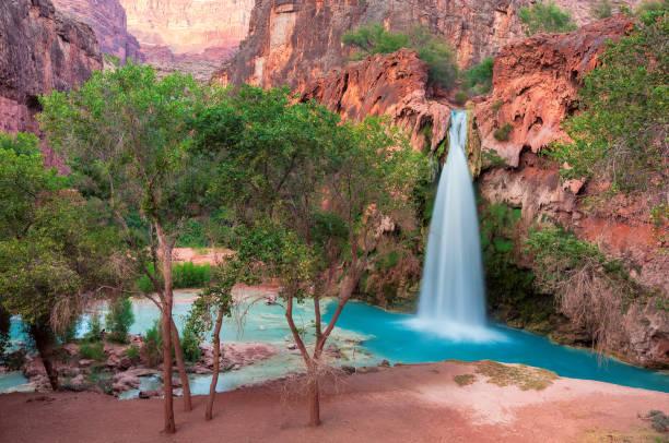 Havasu Falls in the Grand Canyon, Arizona stock photo