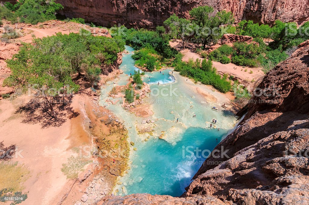 Havasu Falls - the view from the top stock photo