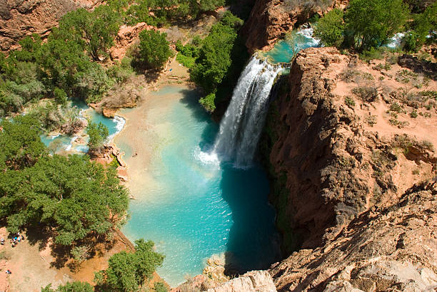 Havasu Falls Waterfall from Above in the Daytime stock photo