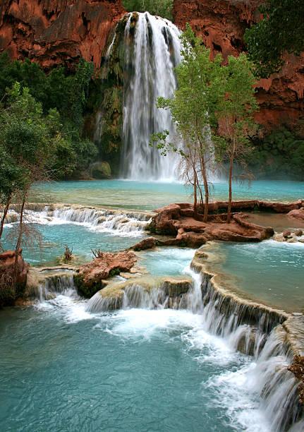 Havasu Falls Waterfall stock photo