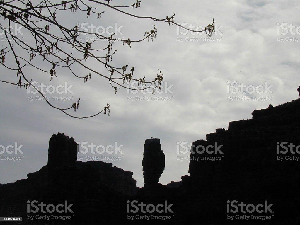 Havasupai Sacred Stones stock photo