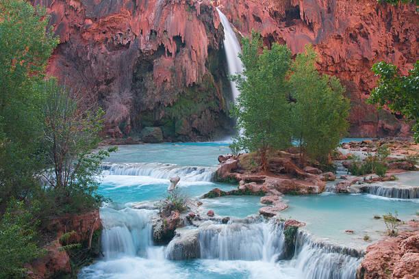 Havasupai Waterfall stock photo